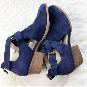 4ecd6e9cdcb Caslon Shoes - Caslon Tina Ankle Bootie Navy Suede Strap Heel